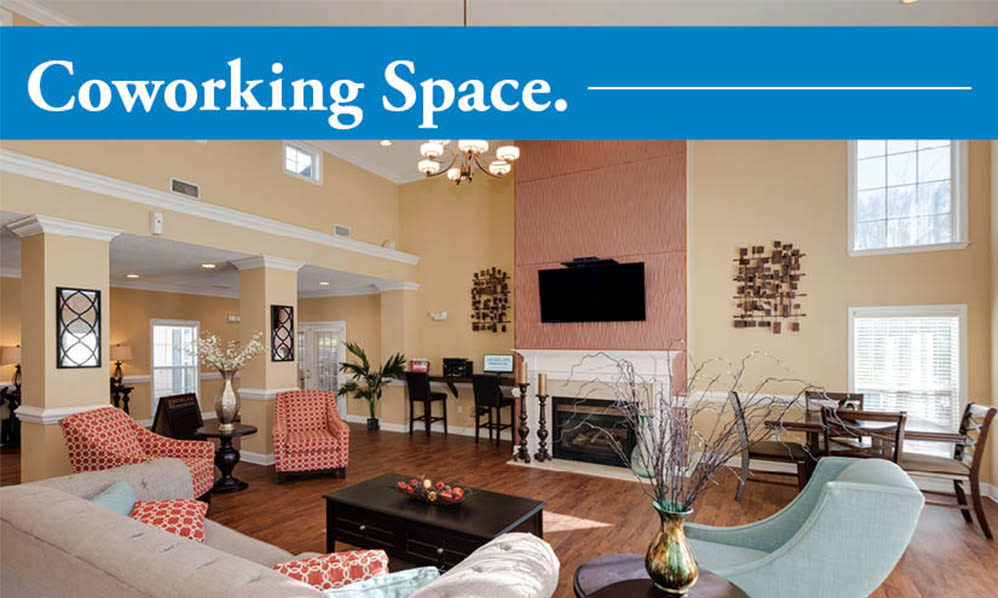 Home office space at The Waterway Apartment Homes in Lexington, SC