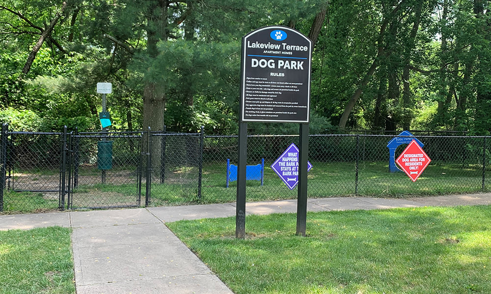Dog park at Lakeview Terrace Apartment Homes in Eatontown, NJ