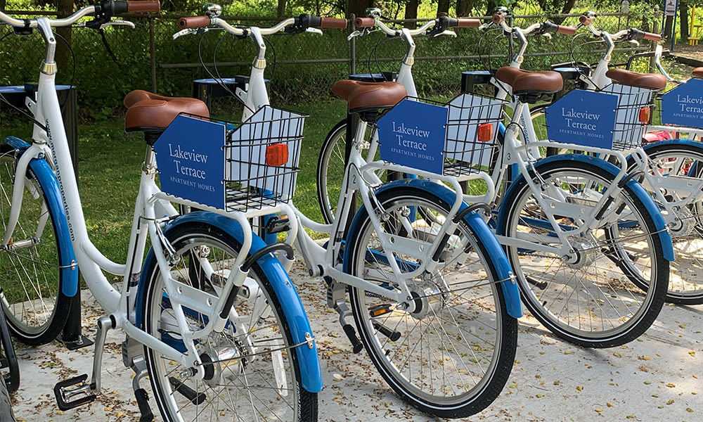 Bike share at Lakeview Terrace Apartment Homes in Eatontown, NJ