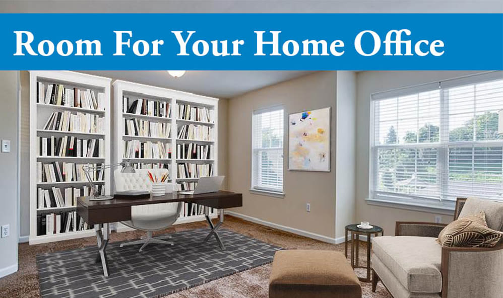 Home office space at Emerald Pointe Townhomes in Harrisburg, Pennsylvania