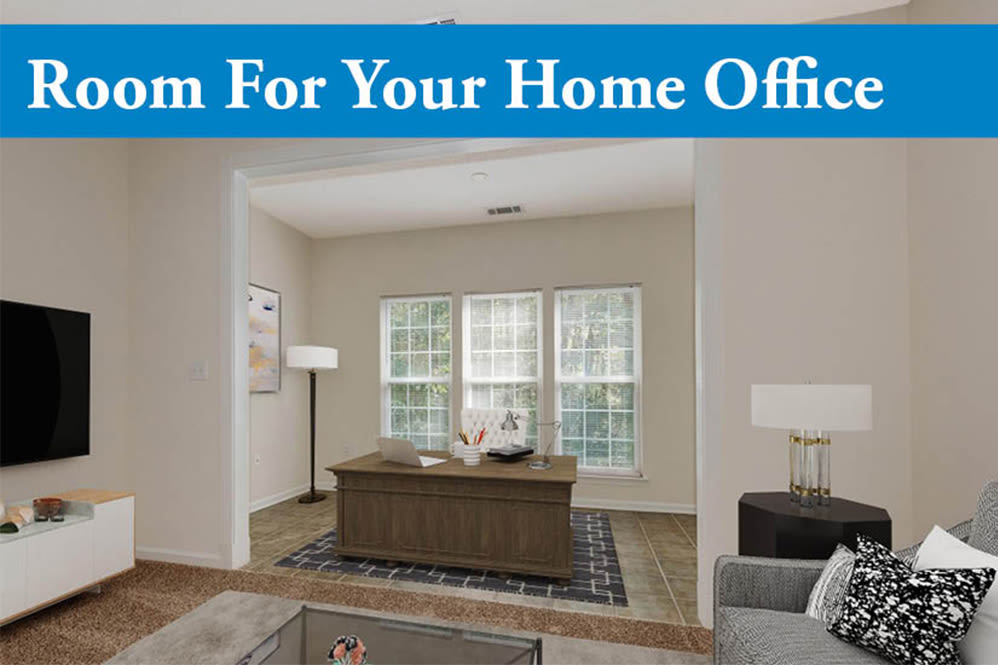 Home office space at Forest Oaks Apartment Homes