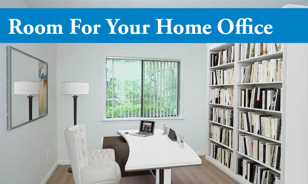Home office space at Riverwind Apartment Homes