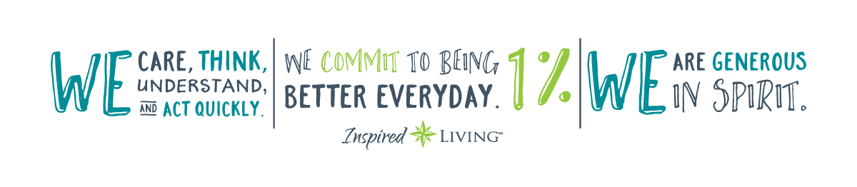 slogan graphic for Inspired Living at Lewisville in Lewisville, Texas