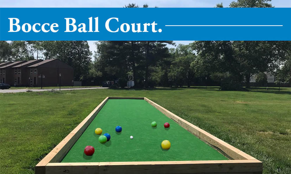 Bocce ball court at Sherwood Village Apartment & Townhomes in Eastampton, New Jersey