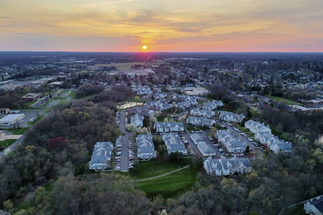Aerial view of Eagle Rock Apartments at Freehold in Freehold, New Jersey