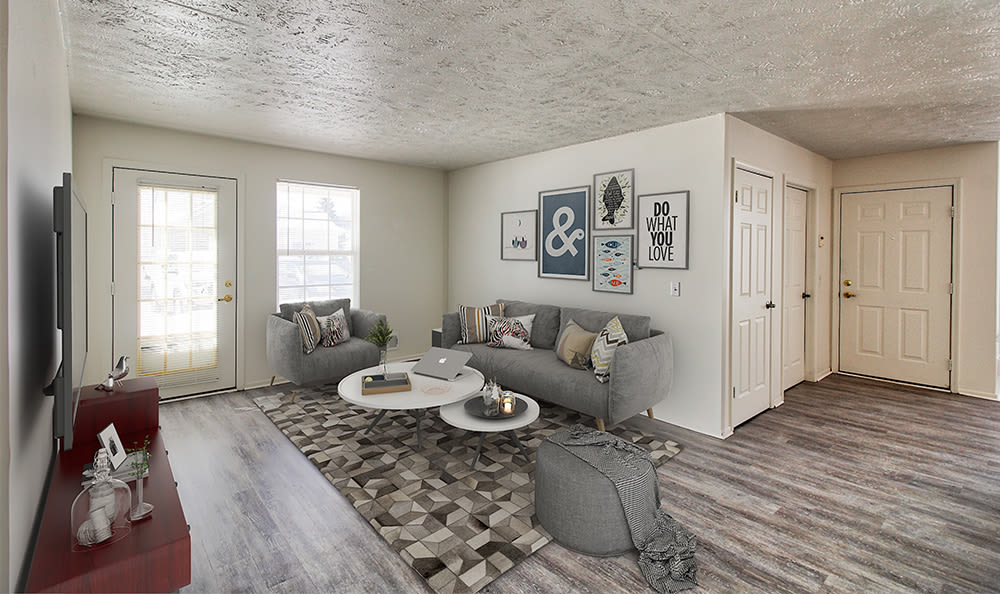 Wood-style flooring at Westview Commons Apartments in Rochester, New York