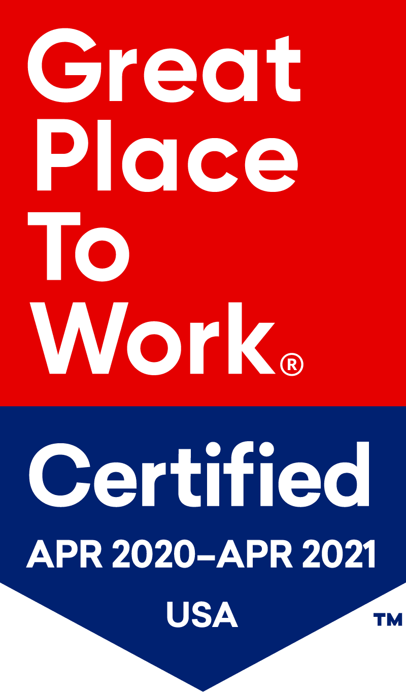 Great Place to Work Certified Logo 2020-2021