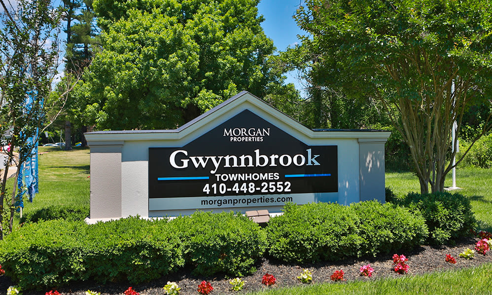 Entry Signage at Gwynnbrook Townhomes in Baltimore, Maryland