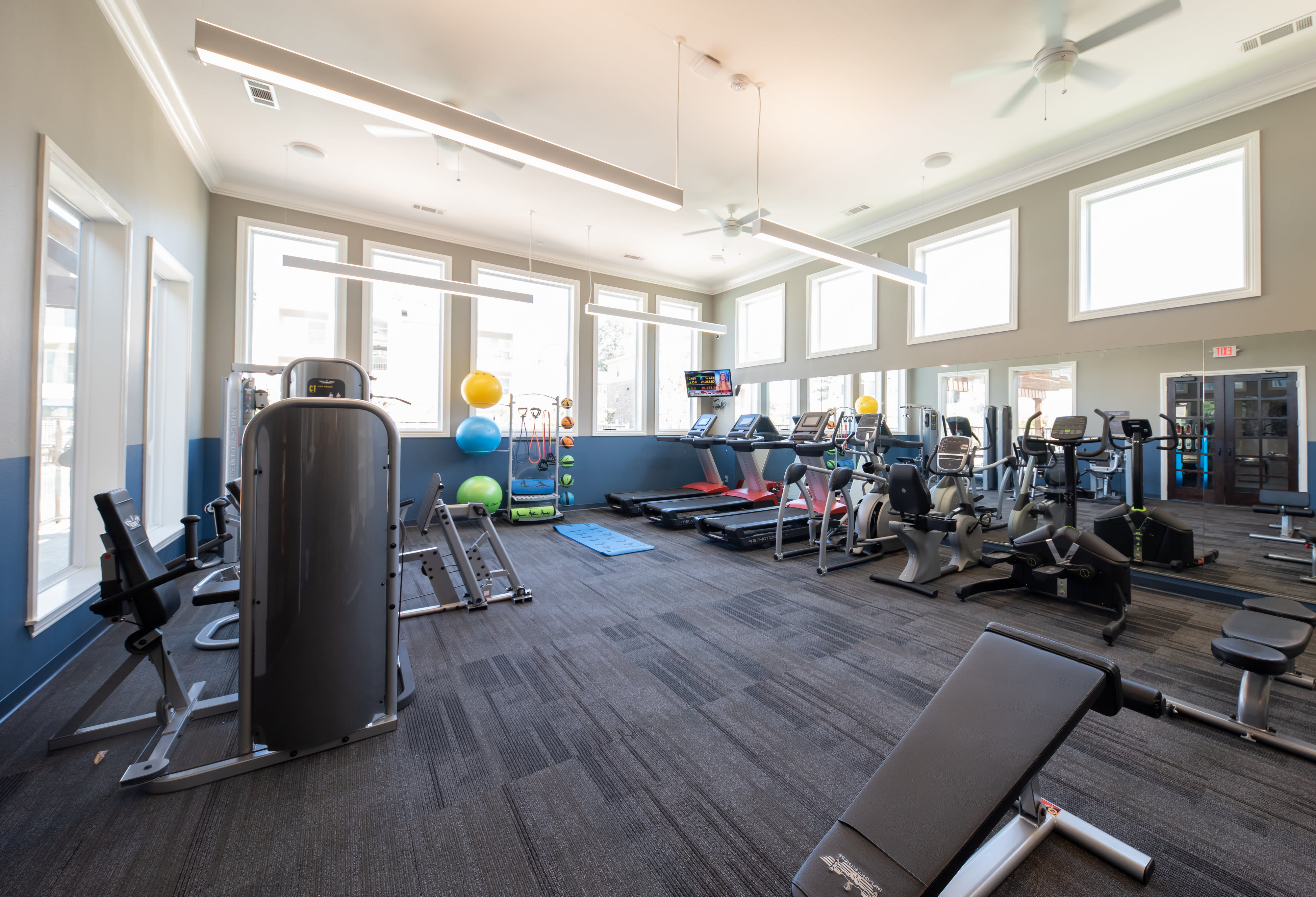 View virtual tour of our fitness center at Hilltops in Conroe, Texas