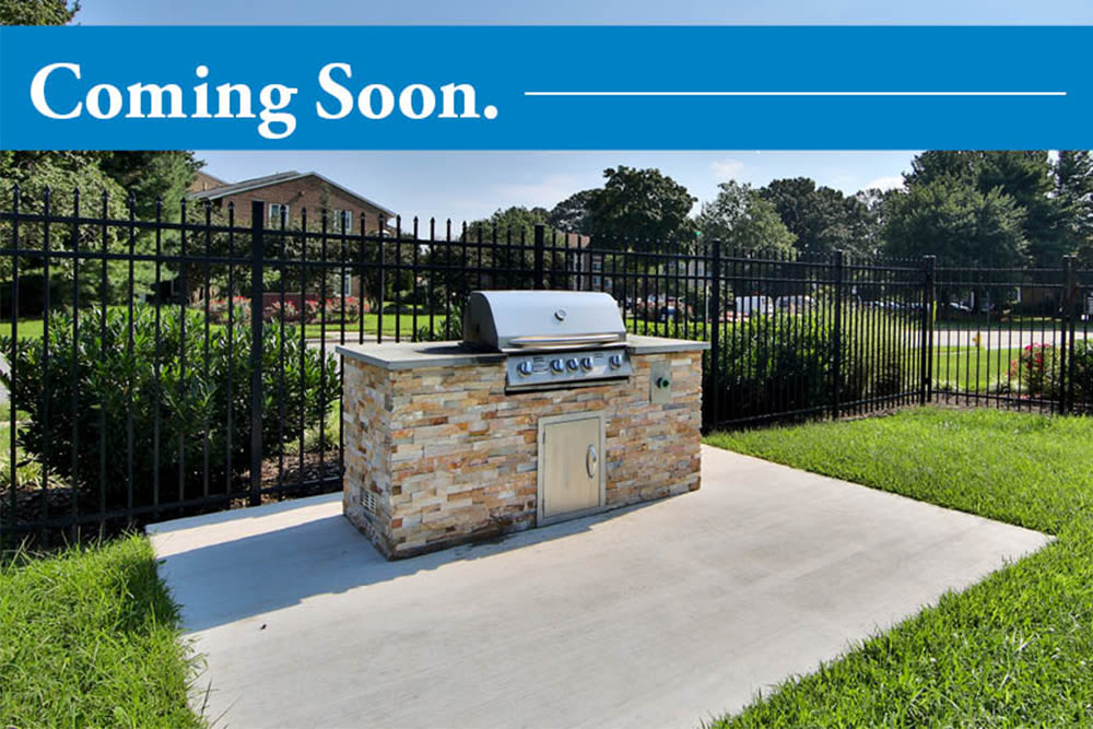 Outdoor BBQ Area coming soon to Park Towers Apartments