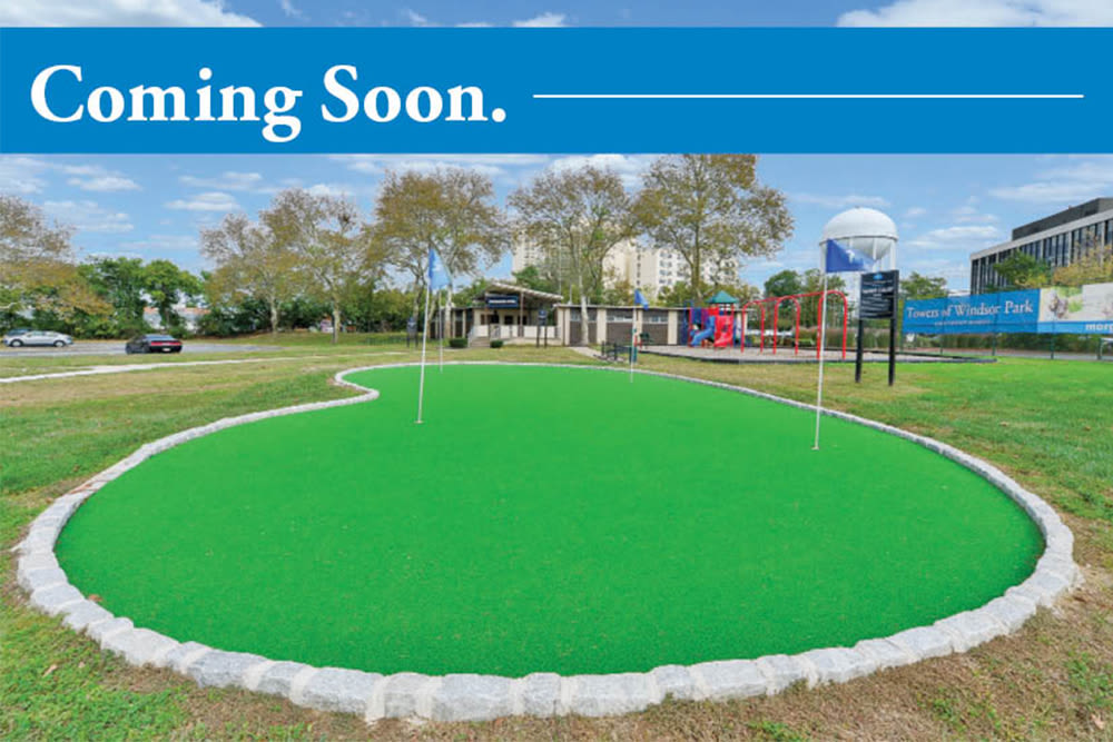 Putting Green coming soon to Park Towers Apartments