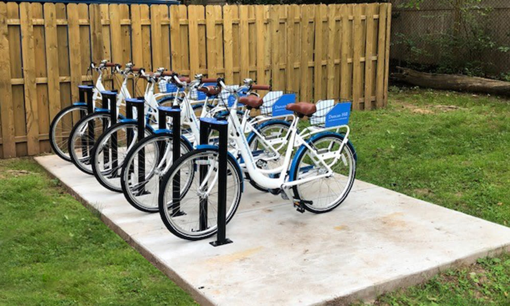 Bike share at Apartments in Westfield, New Jersey
