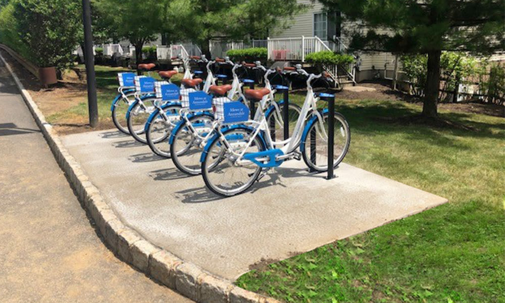 Bike share at Mews at Annandale Townhomes
