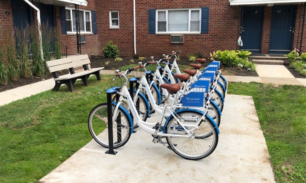Bike share at Westview Apartment Homes in Westwood, New Jersey