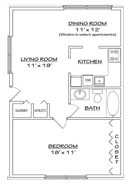 Floor plan 1 for North Woods in Charlottesville, Virginia