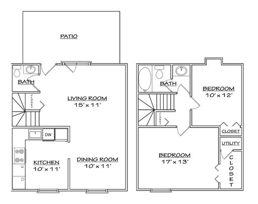 Floor plan 4 for North Woods in Charlottesville, Virginia