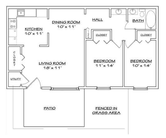 Floor plan 3 for North Woods in Charlottesville, Virginia