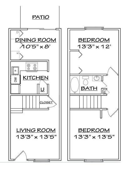 Floor plan 2 for North Woods in Charlottesville, Virginia