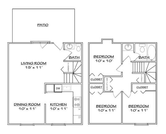 Floor plan 5 for North Woods in Charlottesville, Virginia