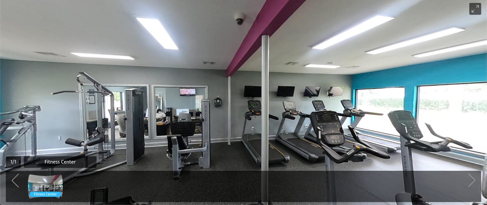 virtual tour of fitness center at The Mayfair Apartment Homes in New Orleans, Louisiana