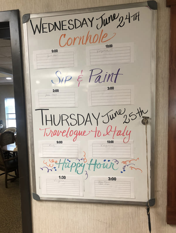 summer activities at Moran Vista