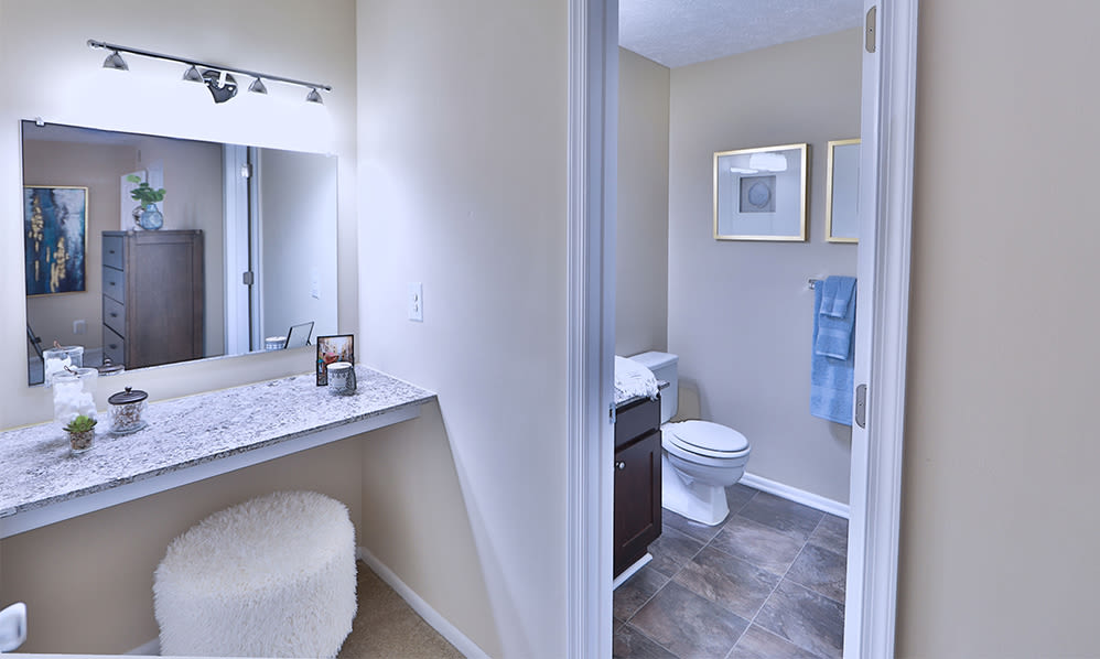 Bathroom at Chase Lea Apartment Homes in Owings Mills, Maryland