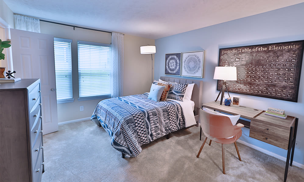 Bedroom at Chase Lea Apartment Homes in Owings Mills, Maryland