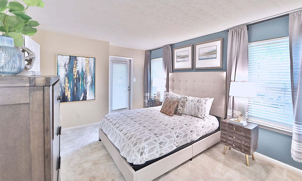 Spacious bedroom at Chase Lea Apartment Homes in Owings Mills, Maryland