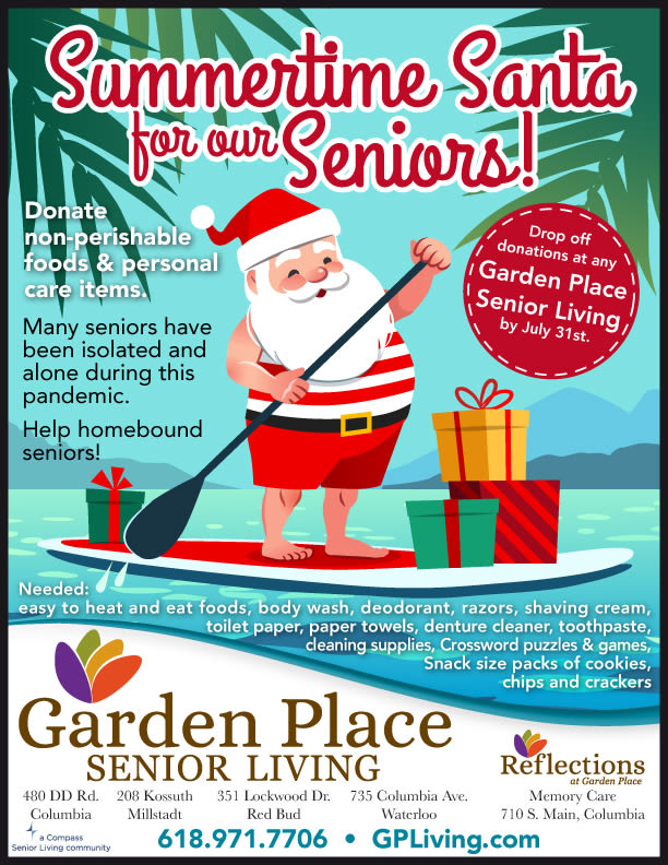 Summertime Santa at Garden Place Red Bud