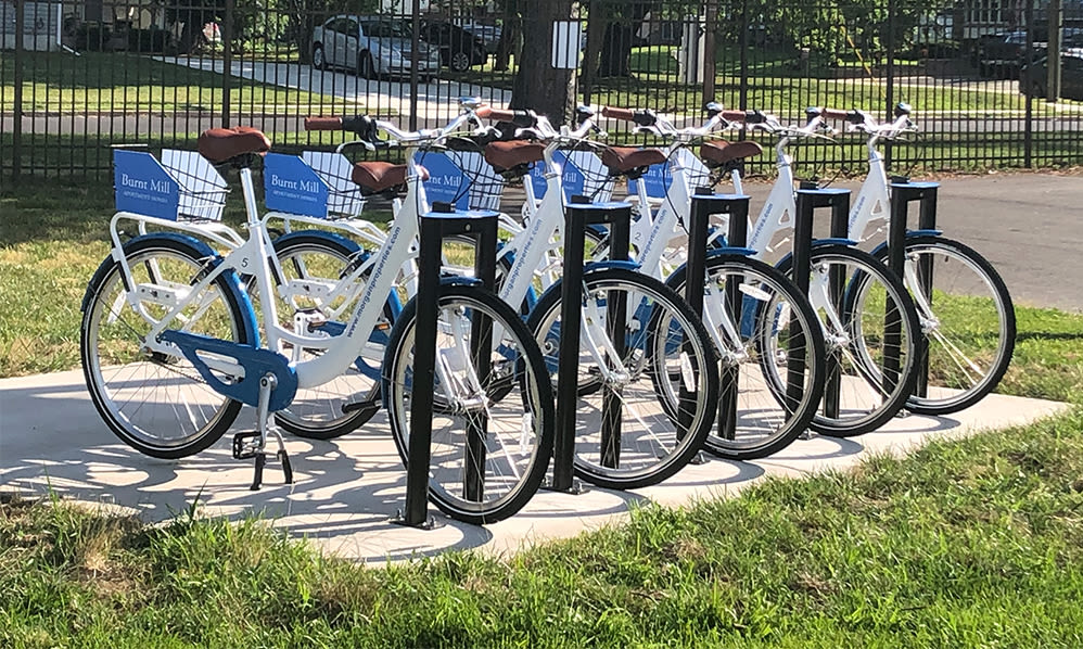 Free bike share at Burnt Mill Apartment Homes