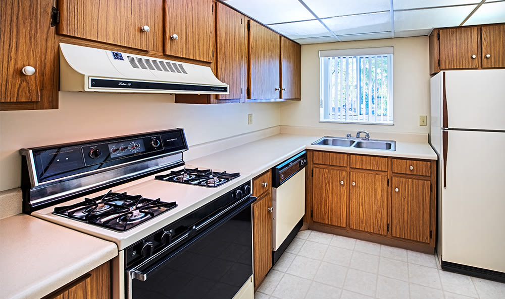 Kitchen at The Avalon Apartment Homes in Avalon, Pennsylvania