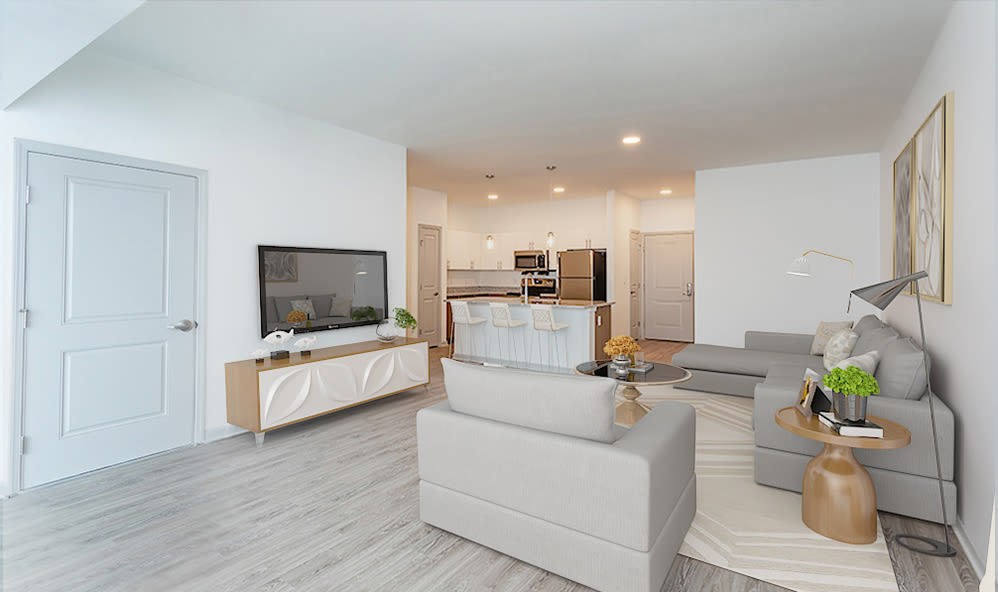 Our apartments at Winding Creek Apartments in Webster, New York showcase a spacious living room