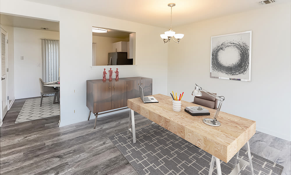Home Office at Mews at Annandale Townhomes in Annandale, New Jersey