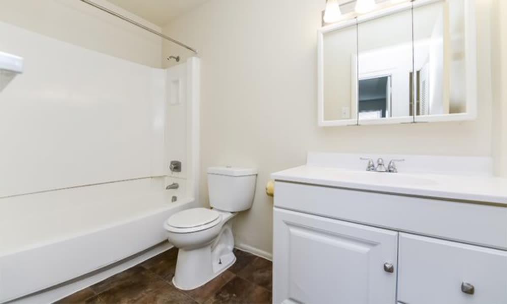 Bathroom at Westwood Gardens Apartment Homes in West Deptford, NJ