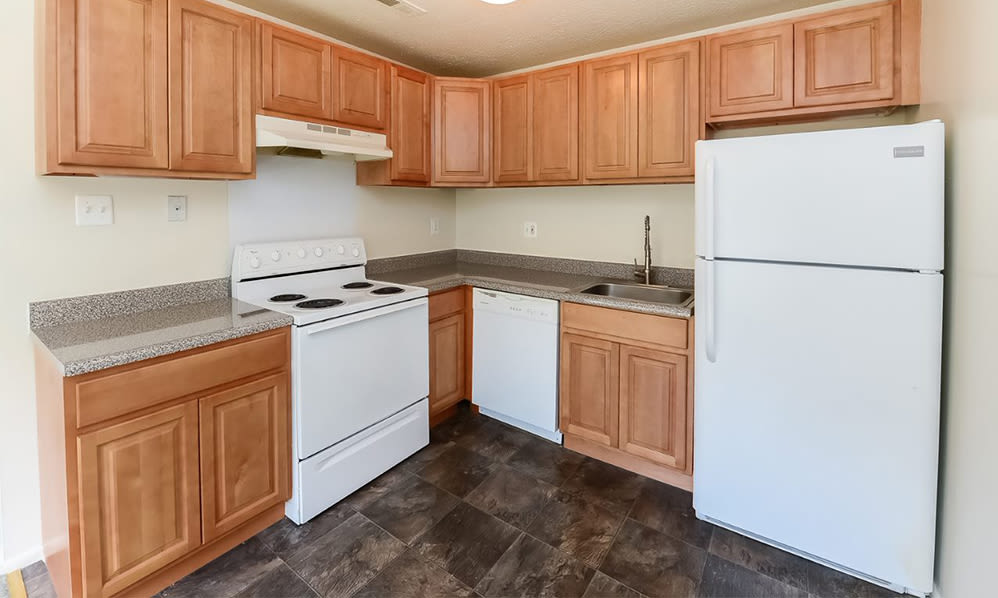 Fully-equipped kitchen at Westwood Gardens Apartment Homes in West Deptford, NJ
