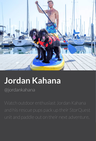 Jordan Kahana, ambassador for StorQuest Self Storage in Santa Monica, California