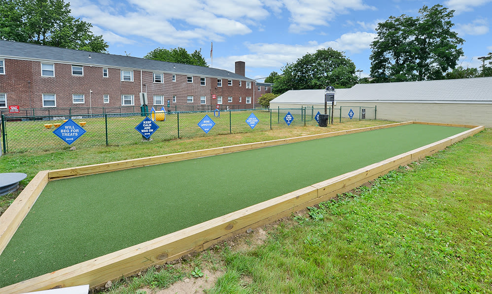 Dog park at apartments in Elmwood Park, New Jersey