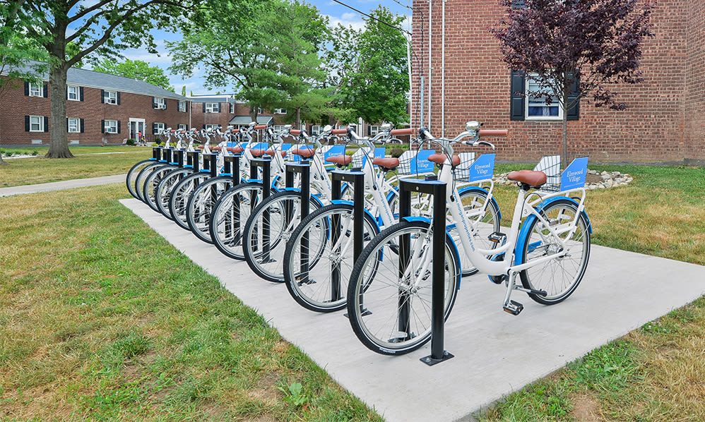 Free bike share at apartments in Elmwood Park, New Jersey