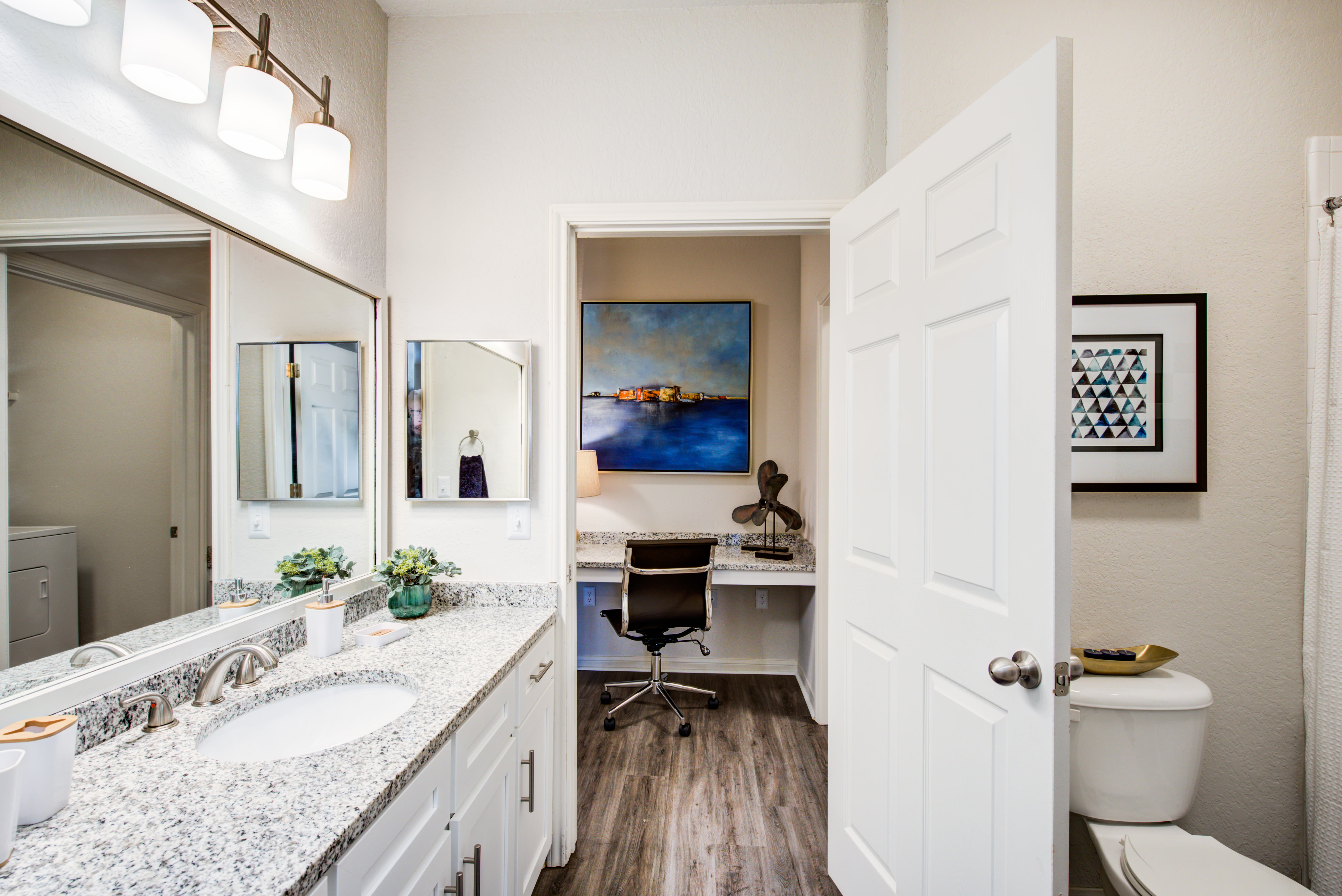 Model bathroom at Ingleside Apartments in North Charleston, South Carolina