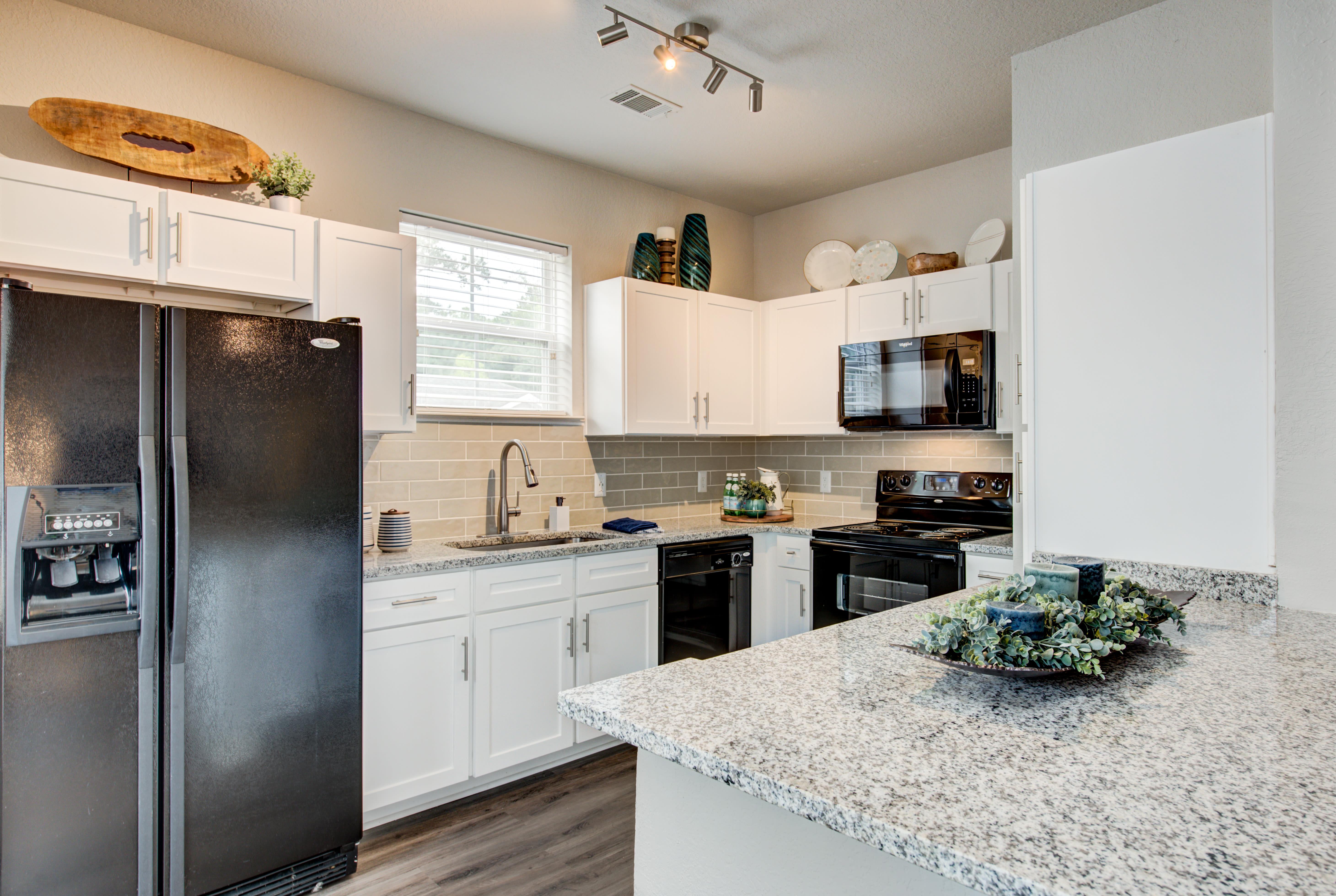 Model kitchen at Ingleside Apartments in North Charleston, South Carolina
