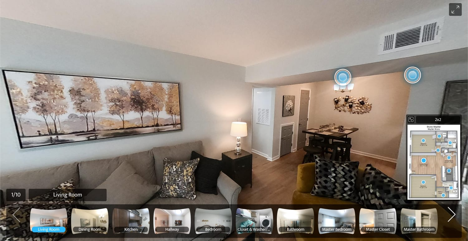 virtual tour of fitness center at Summerfield Apartment Homes in Harvey, Louisiana