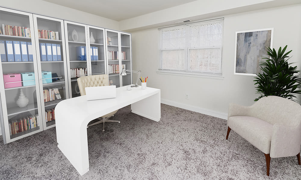 Home office space at Moorestowne Woods Apartment Homes in Moorestown, New Jersey