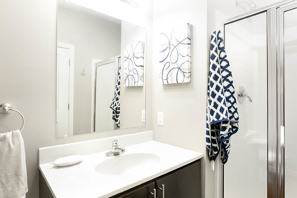 Bathroom at Torrente Apartment Homes in Upper St Clair, Pennsylvania