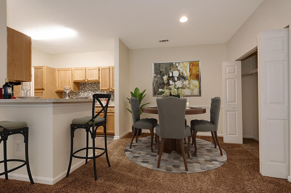 Dining Room Area at Forest Oaks Apartment Homes in Rock Hill, South Carolina