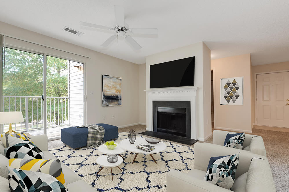 Living Room at Forest Oaks Apartment Homes in Rock Hill, South Carolina