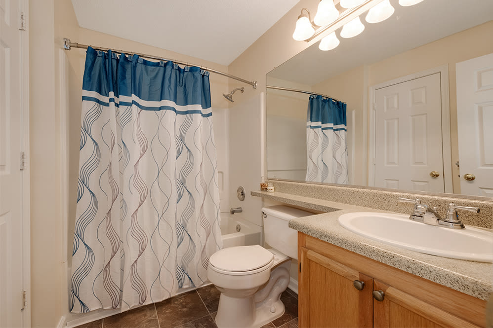 Bathroom at Forest Oaks Apartment Homes in Rock Hill, South Carolina