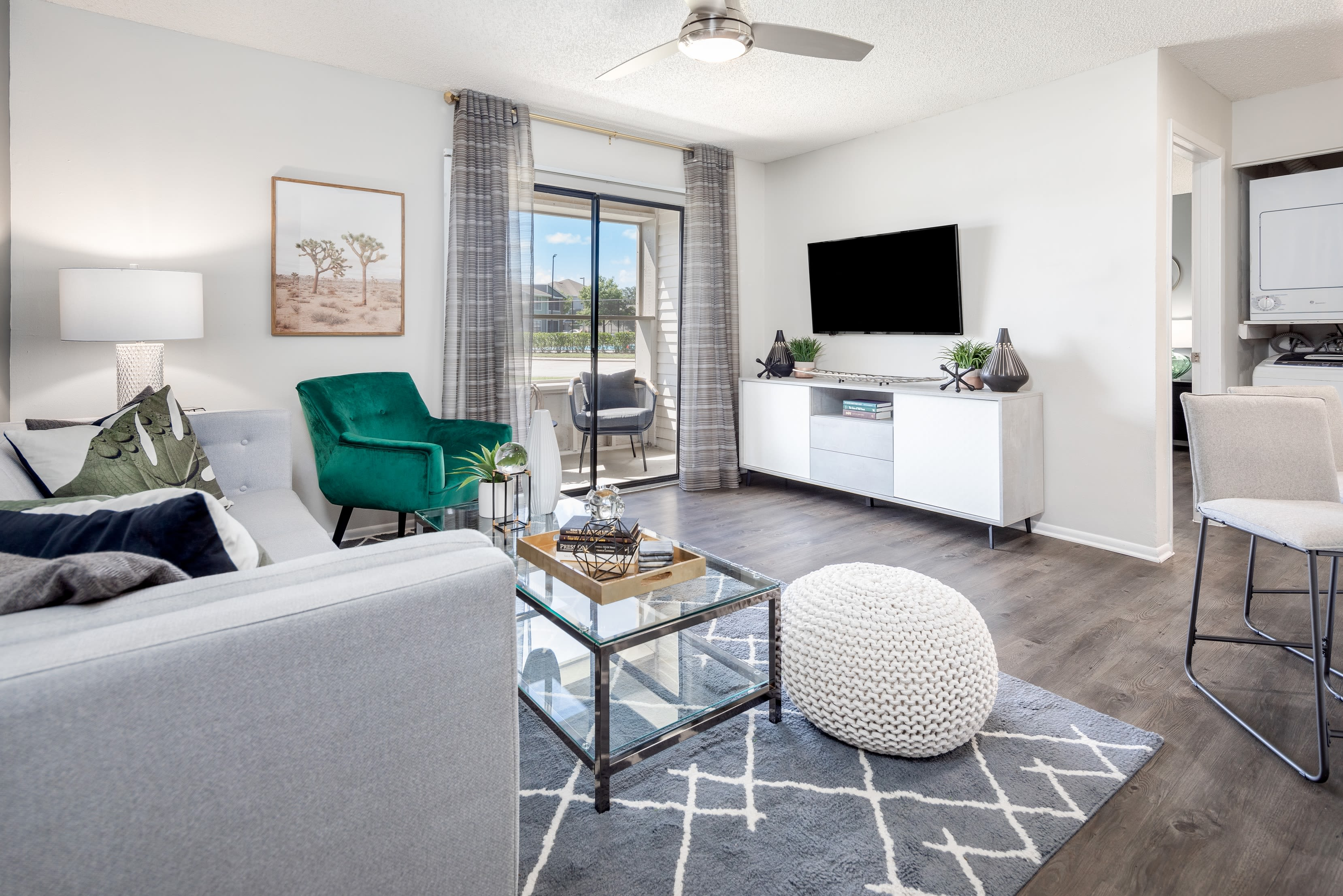 Open concept living area at Compass in Melbourne, Florida