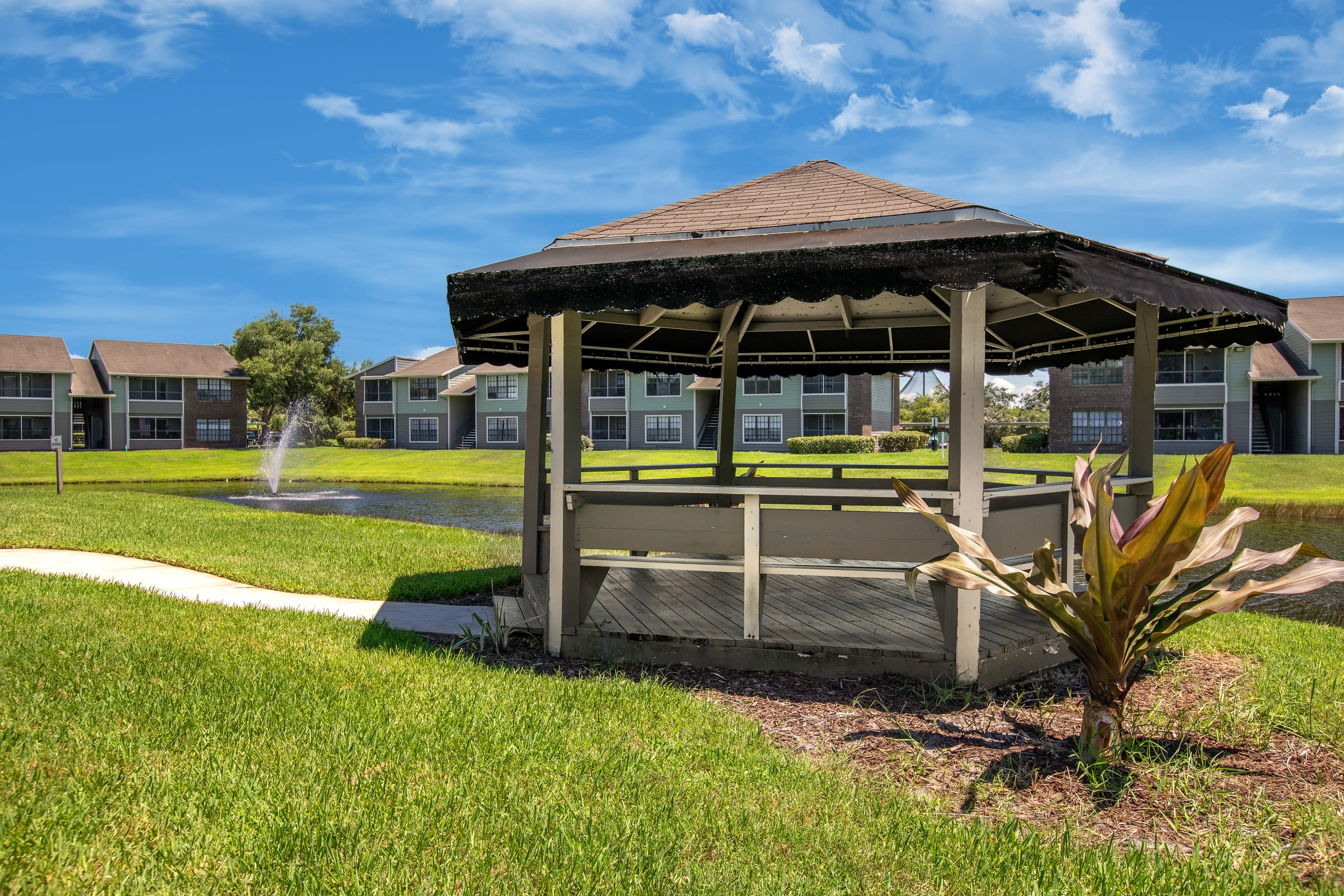 Community gazebo at Compass in Melbourne, Florida