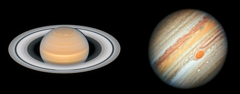 image of Saturn and jupiter