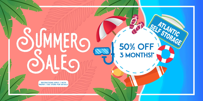 Summer Sale at Atlantic Self Storage in Jacksonville, Florida